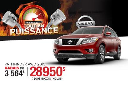Nissan Pathfinder 2015: disponible à partir de 28 950$