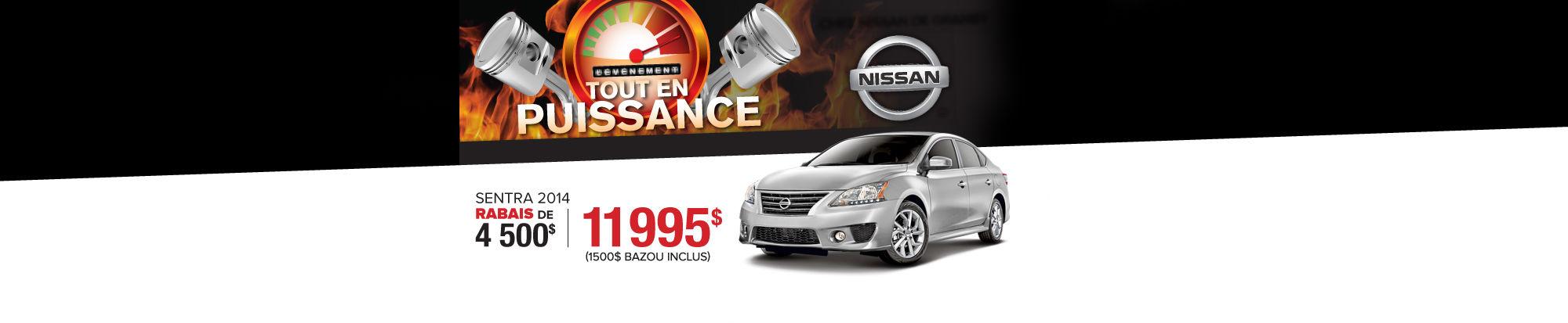 Nissan Sentra 2014 11 995$