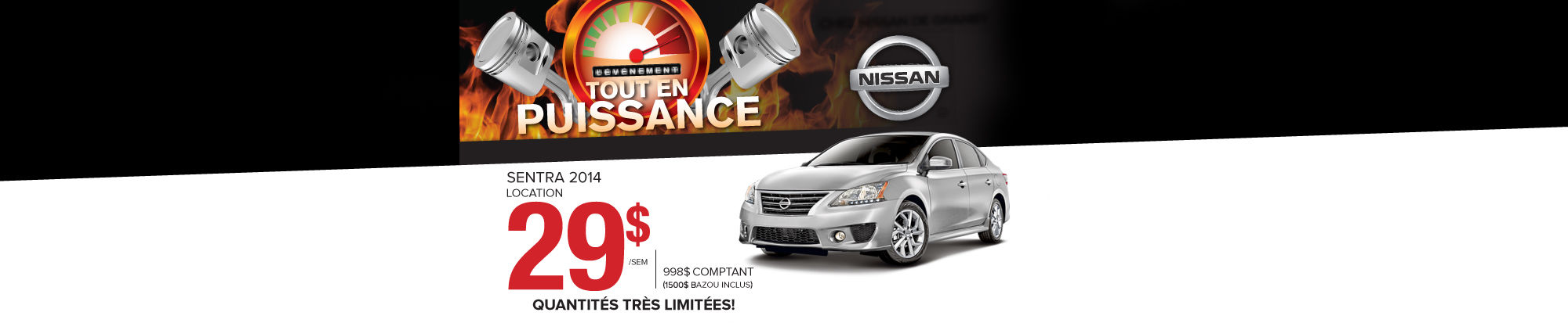 Nissan Sentra 2014 29$ par semaine