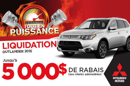 Mitsubishi Outlander 2015 en rabais de 5000$