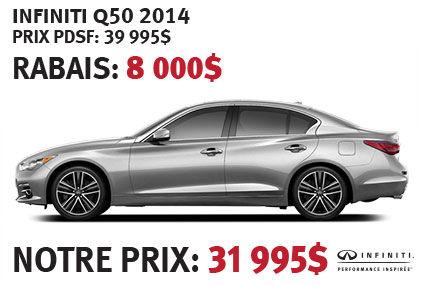 La toute nouvelle Infiniti Q50 2014 à partir de seulement 31 995$