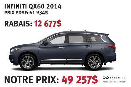 Infiniti QX60 AWD 2014 à partir de seulement 49 257$