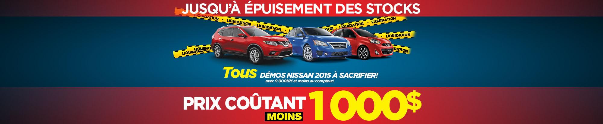 Liquidation démos Nissan 2015