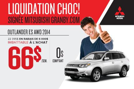 Dernier Mitsubishi Outlander 2014 seulement chez Mitsubishi Granby
