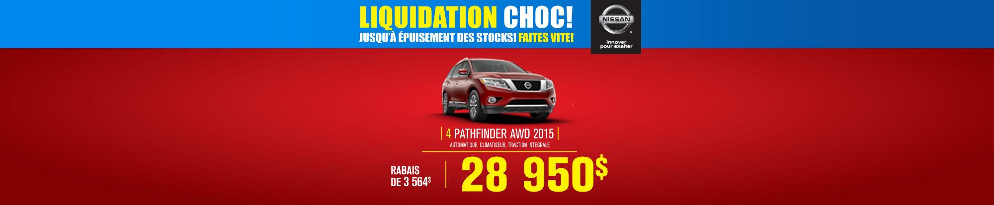 Liquidation choc Pathfinder 2015