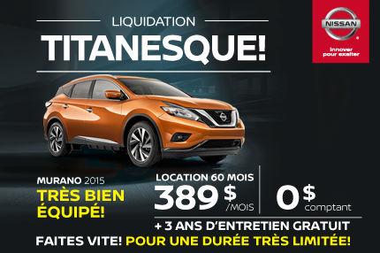 Liquidation titanesque : Nissan Murano 2015