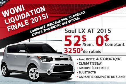 C'EST LIQUIDATION FINALE 2015 DE LA KIA SOUL