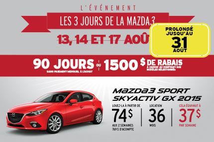 Les 3 jours de la Mazda 3 prolongé sport