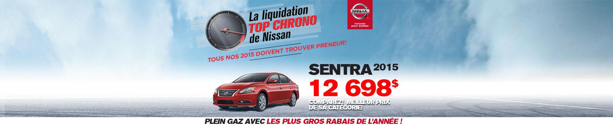 Cette semaine c'est la Liquidation TOP CHRONO chez NISSAN DRUMMONDVILLE - sentra