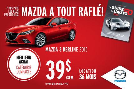 L'événement Véhicules de l'année : Mazda3 berline à 39$/semaine