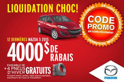 Liquidation Choc: Mazda 5 2015