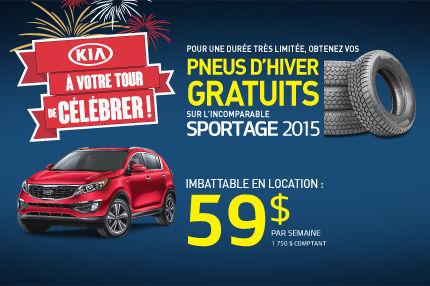À votre tour de célébrer chez Kia - Sportage