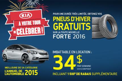 À votre tour de célébrer chez Kia - Forte