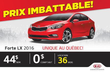 Prix imbattable - Forte LX 2016