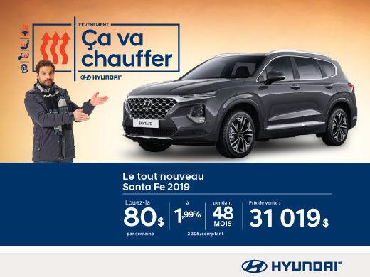 L'événement ÇA VA CHAUFFER chez Hyundai avec le Santa Fe 2019