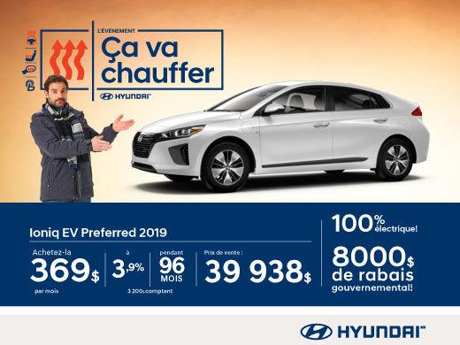 l'événement ÇA VA CHAUFFER chez Hyundai avec l'Ioniq 2019