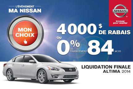 Nissan Altima 2014 en liquidation de 4000$