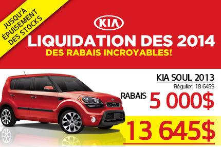 Liquidation de la Kia Soul 2013 à seulement 13 645$