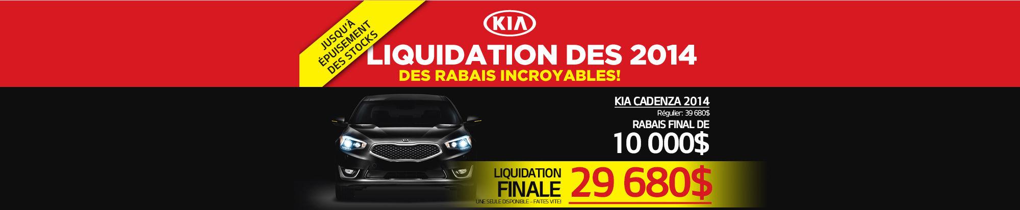 Liquidation de la Kia Cadenza Header