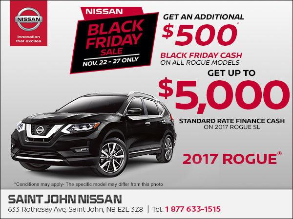 Saint John Nissan >> Black Friday Sale Rogue Saint John Nissan