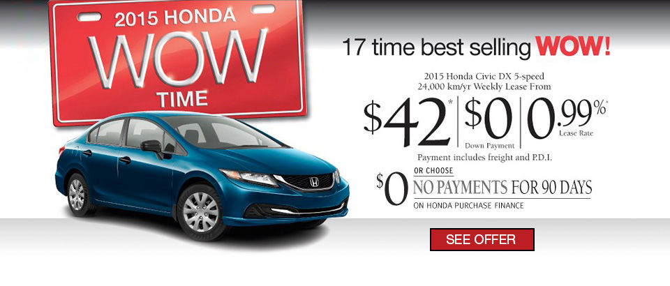 LEASE THE 2015 HONDA CIVIC - Wow Sales Event!