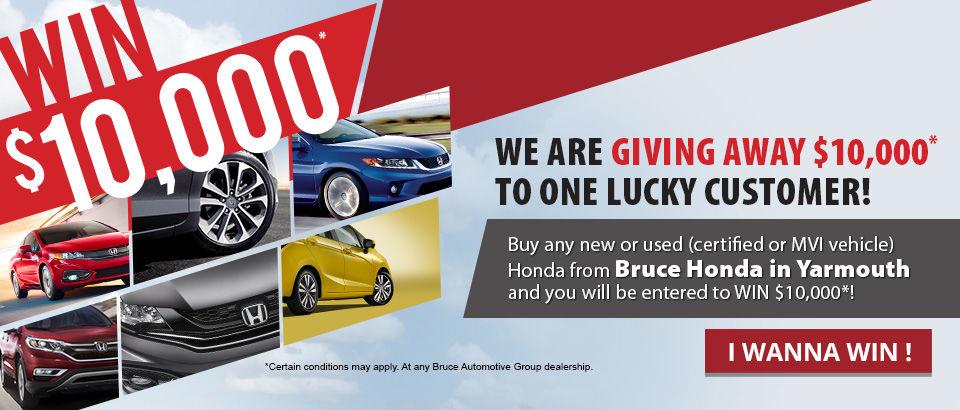 We are giving away $10,000 - Honda