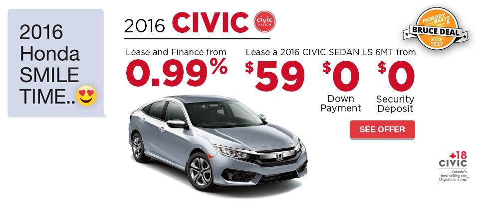 2016 Honda Smile Time - Civic