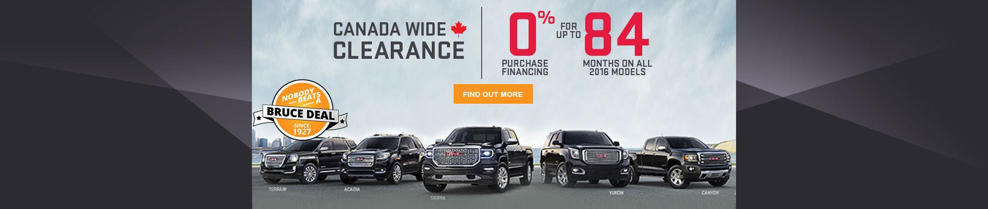 Canada Wide Clearance - GMC