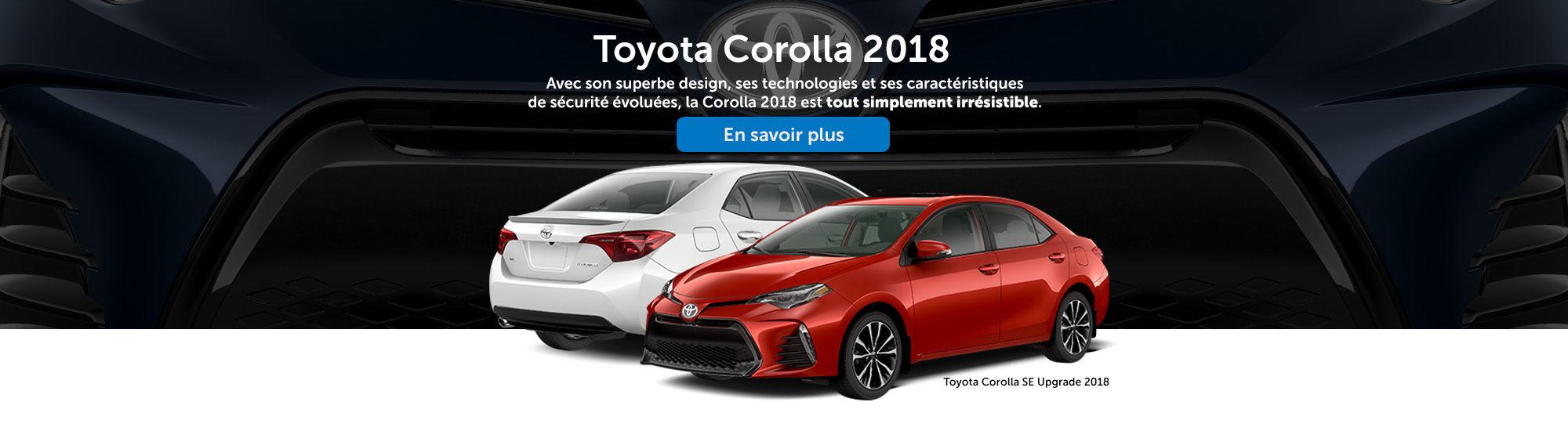 Toyota Corolla 2018 simplement irrésistible