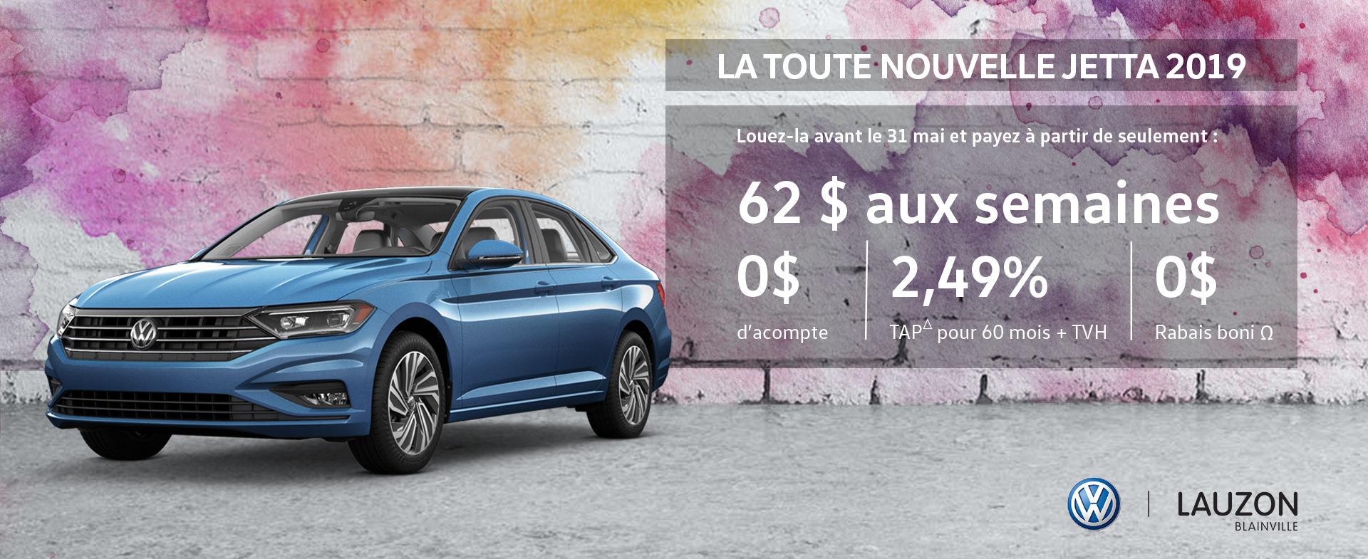 Promotion mai 2018 Volkswagen Jetta 2019 VW Lauzon Blainville