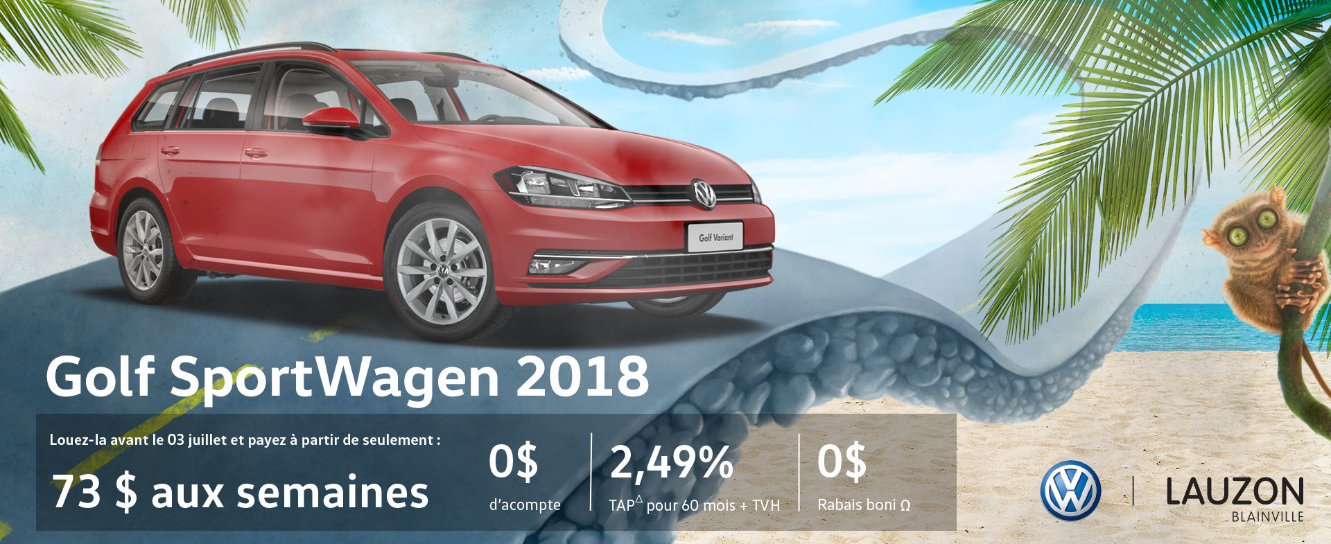 Golf Sportwagen 2018 - Programme Juin
