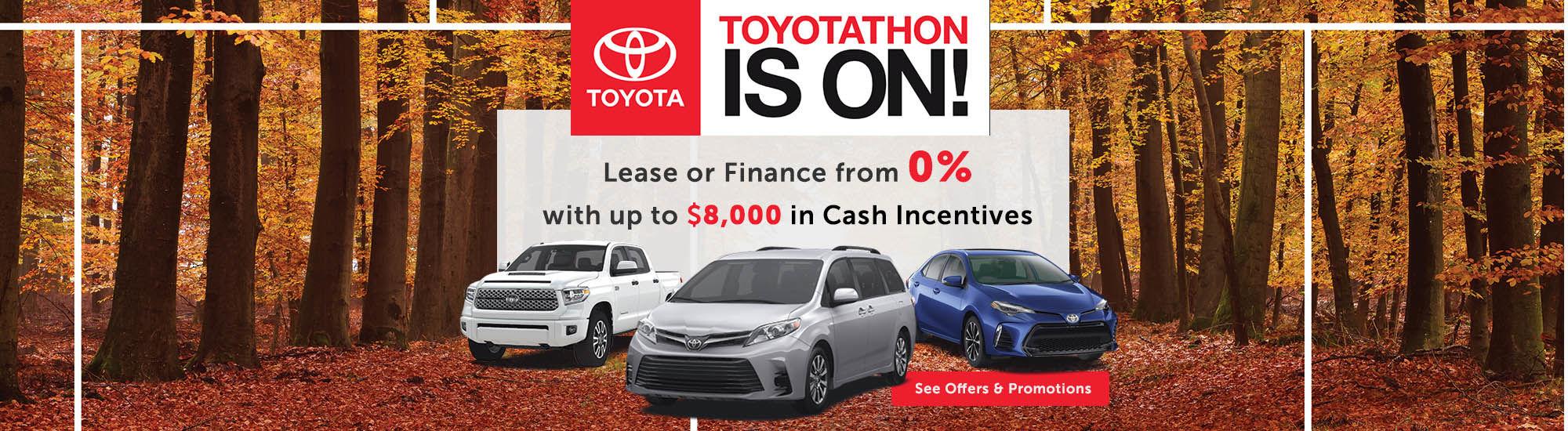 Toyotathon is 0n
