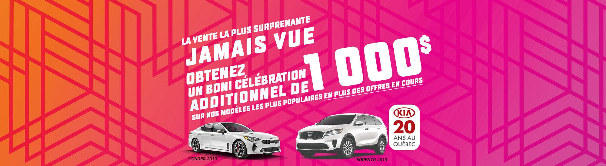 La vente la plus surprenante jamais vue Kia 20 ans au Québec