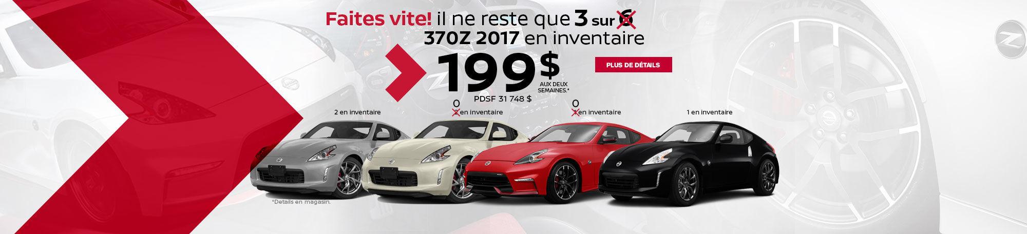 Le plus GROS inventaire de 370Z 2017