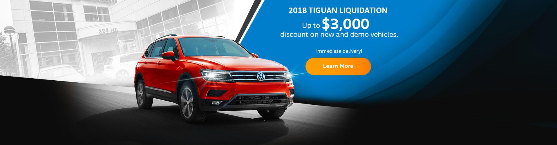 2018 Tiguan - $3,000