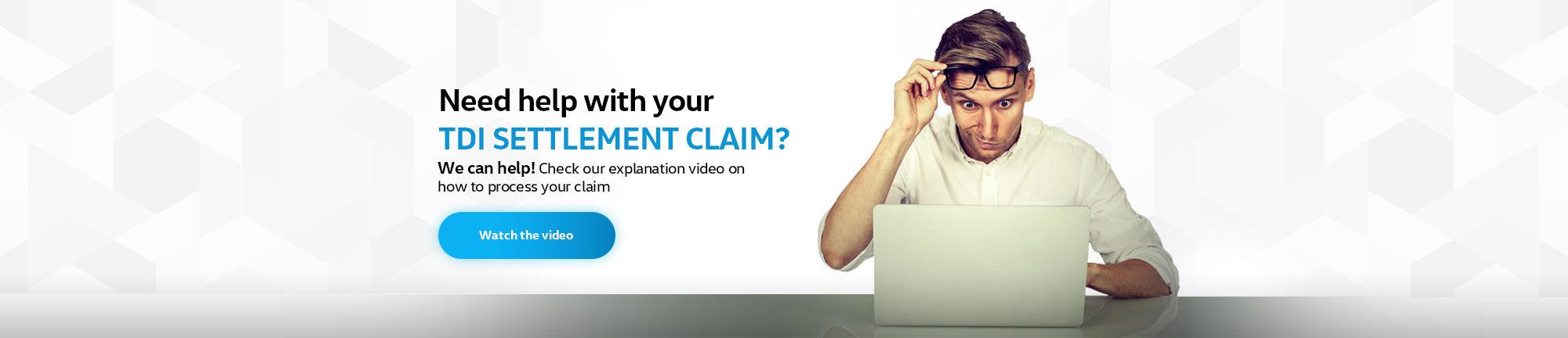 TDI Settlement claim