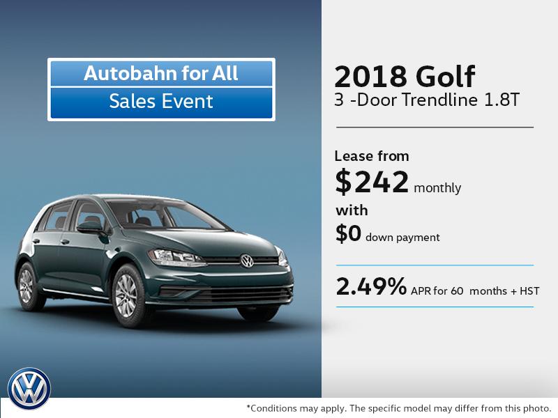 Drive Home the 2018 Golf 3-Door