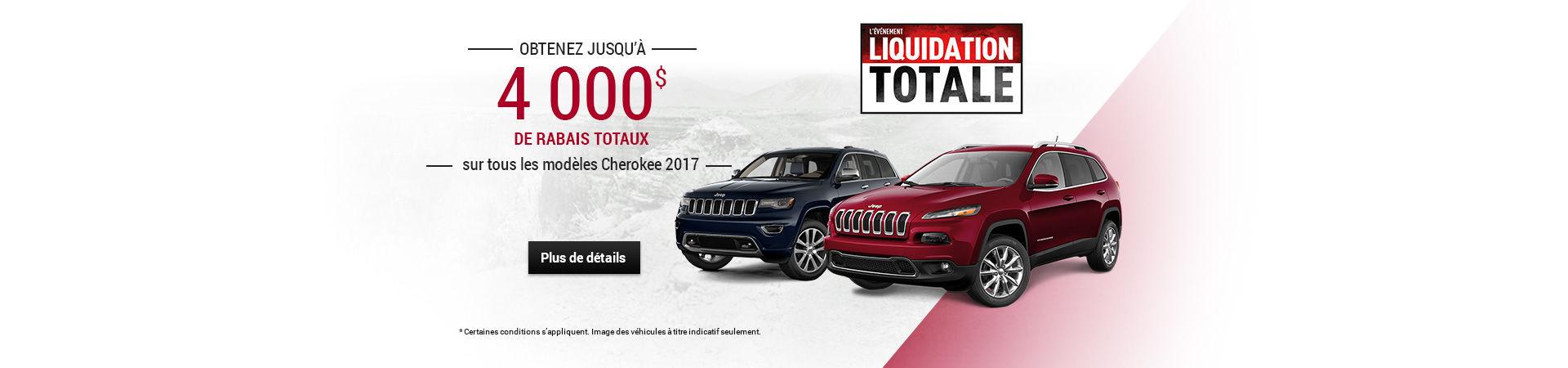Liquidation totale novembre - Jeep
