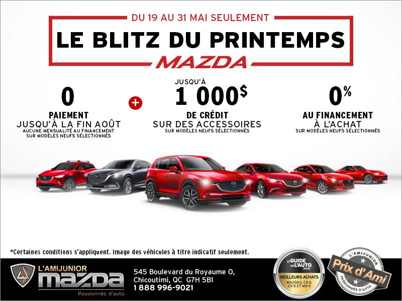 Le blitz du printemps Mazda
