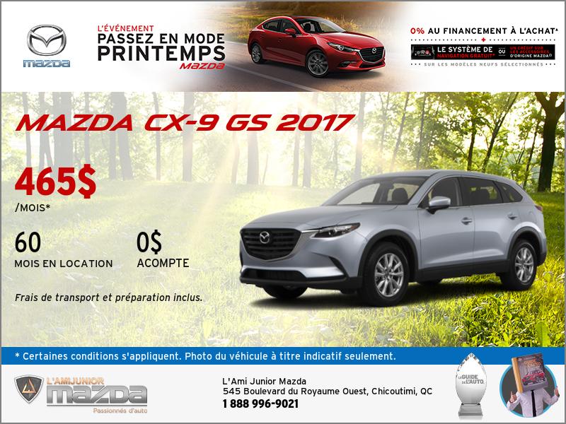 Louez la toute nouvelle Mazda CX-9 GS 2017