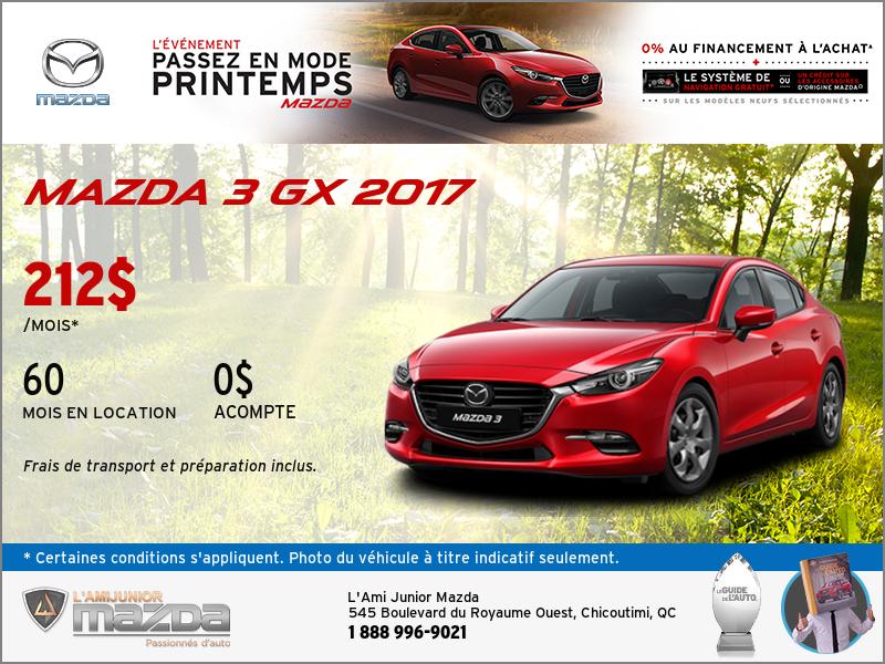 Louez la Mazda3 GX 2017
