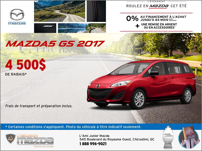 Mazda5 2017 en rabais!