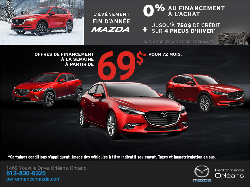 L'événement de fin d'année de Mazda! chez Performance Mazda à Ottawa