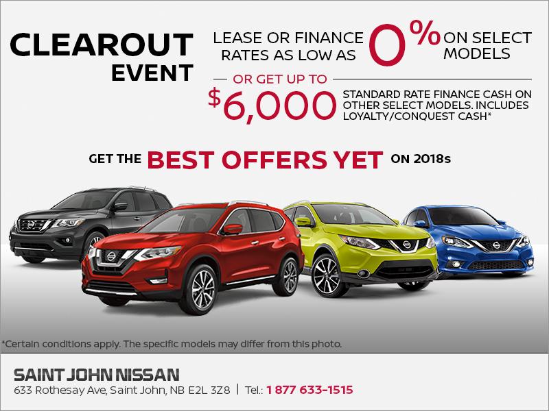 Saint John Nissan >> The Nissan Clearout Event Saint John Nissan