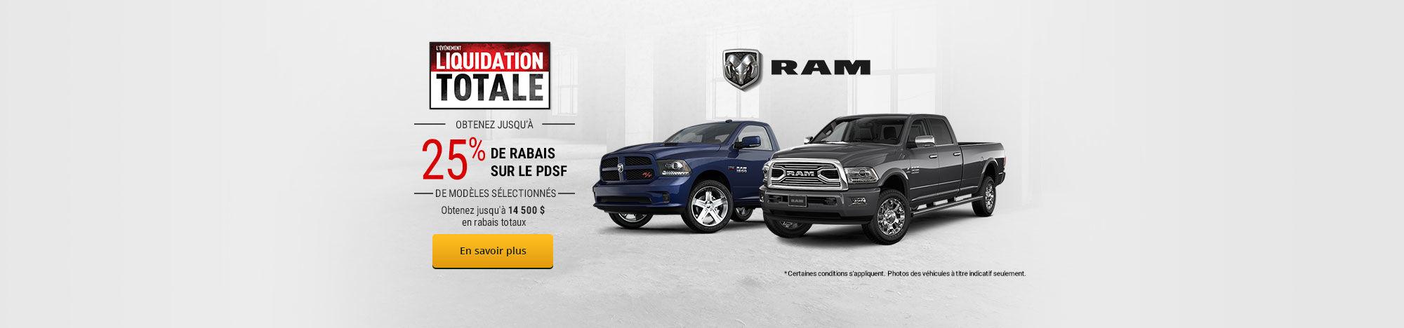 L'événement liquidation totale RAM - Septembre