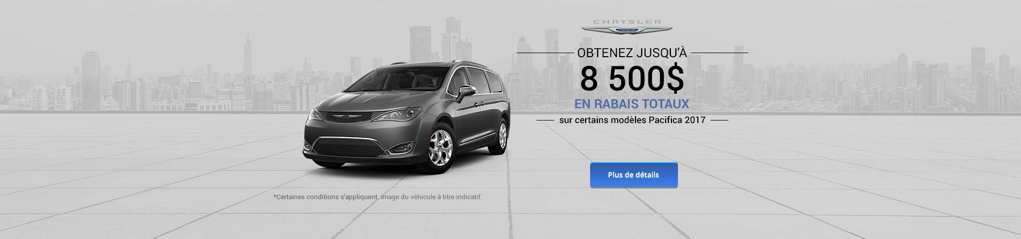 Vente mensuelle Chrysler