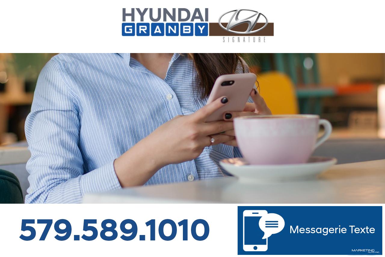 Dernière nouvelle : La communication SMS est enfin activé chez Hyundai Granby