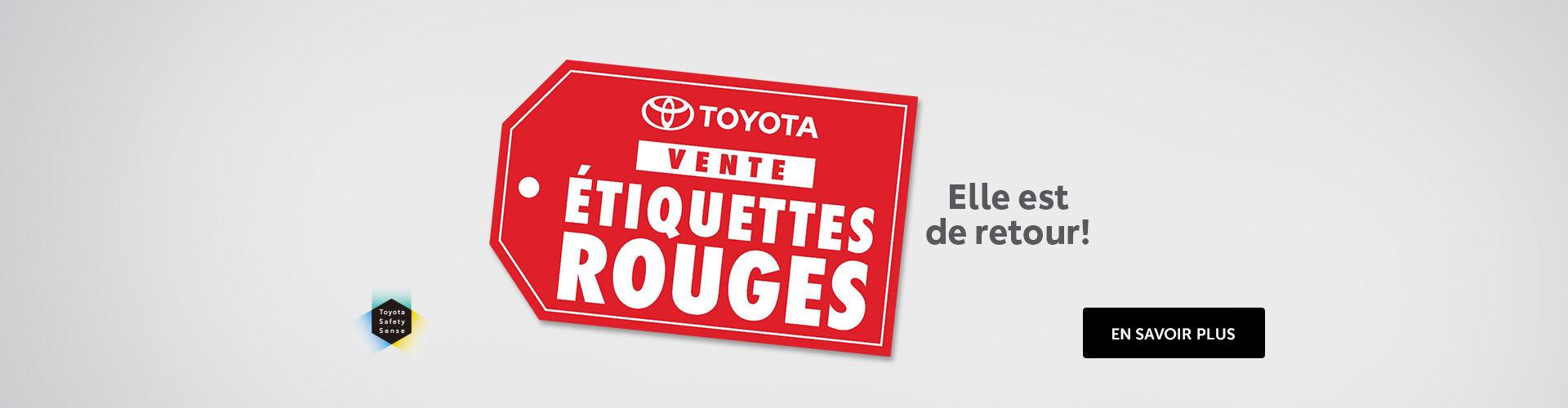 L'événement étiquettes rouges de Toyota!