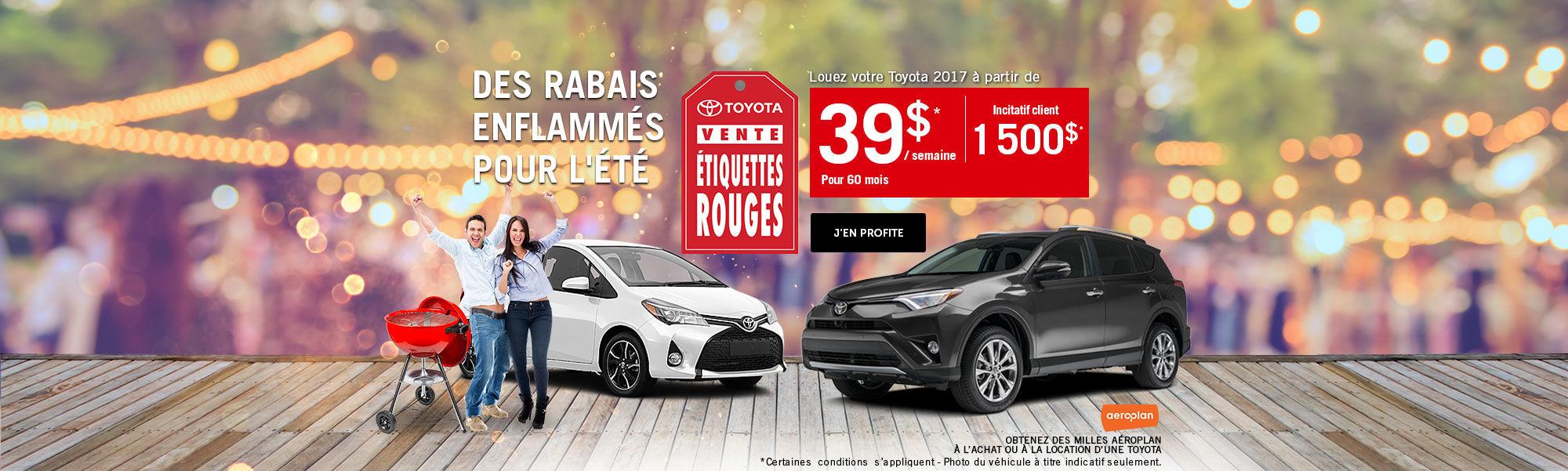 Vente étiquette rouges Toyota - Evénement