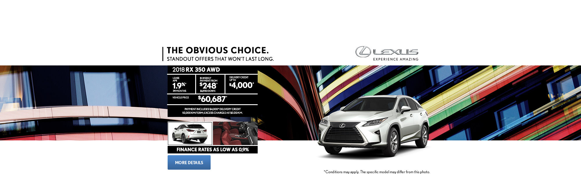 Lexus RX - header- desktop